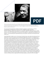 Deleuze and Foucault Conversation