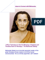 A Mystical Technique to Connect With Mahavatar Babaji