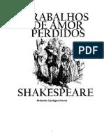 Shakespeare Trabalhos de Amor Perdidos