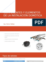 Componentes y Elementos de La Instalación Domótica