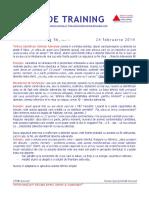 Pilula de Training Nr393258267. 56, Tehnica Identificarii Obiectiei Adevarate, 24 Feb 2014, Mentor Training
