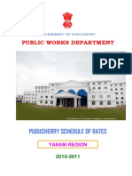 Yanam Psr 2010-11 Book Schedule of Rates