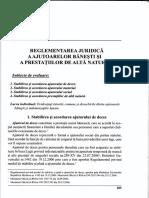 17. Reglementarea Juridica a Ajutoarelor Banesti Si a Prestatiilor de Alta Natura