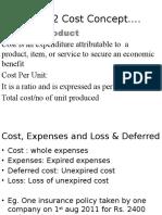 Chap 2 Cost Concept