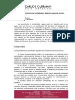 Regularizacion de Sociedades Irregulares de Hecho. 0