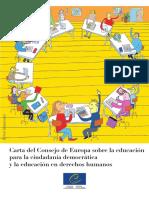 Carta Consejo de Europa Educ. Ciudadania