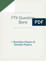 FTII Question Bank pdf
