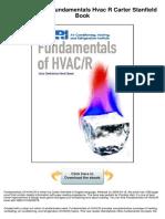 Fundamentals Hvac r Carter Stanfield