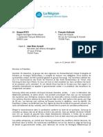 Lettre du groupe RCES à François Hollande