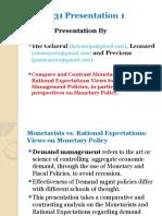 Monetarists vs Rational e,Presentation
