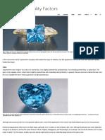 GIA, Aquamarine Quality Factors