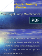 Centrifugal Pump Maintenance