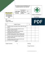 Daftar Tilik Pelaporan Hasil Pemeriksaan Laboratorium Yang Kritis