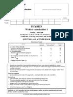 2006 physics written examination 1.pdf