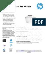 HP Color Laserjet Pro-M452 DN