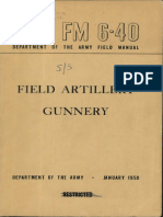 FM 6-40 Field Artillery Gunnery 1950