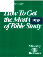 How to Get the Most Out of Bible Study