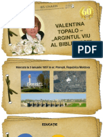 """Valentina Topalo – """"Argintul viu al Bibliotecii"""" (Alexe Rău)"""