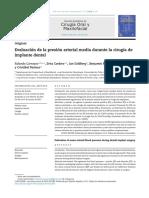 2014 Evaluación de la presión arterial media durante la cirugía de IMPLANTES DENTALES.pdf