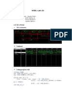 VHDL LAB 10 FSM code solution and test bench
