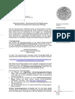 Infoblatt Bewerbung - Stand 01-13