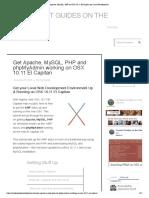 Apache, Mysql, Php on Osx 10