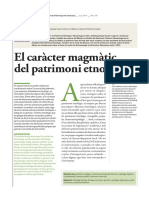 Prats, Llorenç. El carater magmatico del patrimonio etnologico