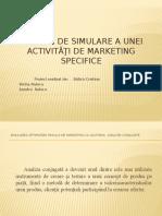 Metode de Simulare Ale Unei Activităţi de Marketing