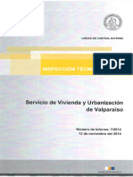 INFORME INSPECCIÓN TÉCNICA DE OBRA 7 -14 SERVICIO DE VIVIENDA Y URBANIZACIÓN PROGRAMA PAVIMENTACIÓN PARTICIPATIVA 22° LLAMADO, COMUNA DE QUILPUÉ - NOVIEMBRE 2014