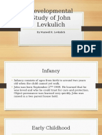 developmental study of john levkulich