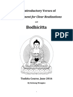 Bodhicitta (Tushita Course, June 2016) With Title Page and Content