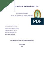 Contaminacion Por Mineria Aluvial