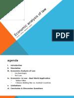 Presentation 6 Fevrier - Analyse Economique Du Droit