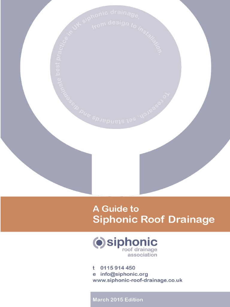 A Guide to Siphonic Roof Drainage - Pipe (Fluid Conveyance) - Drainage - 웹