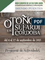 Programa Otoño Sefardi 2015