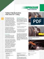 P10288 Turbine Disk Restoration SermeTel Coating Lr