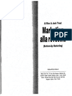 Marketing Alla Rovescia (Bottom-Up Marketing) - Al Ries and Jack Trout(Stessi Autori 22 Leggi Del Marketing)