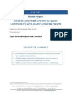 Elections aftermath and the European  Commission's 2016 country progress reports