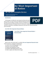 List of the Most Important Financial Ratios