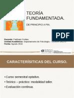 Ubicación de la Teoría Fundamentada en el marco de los métodos cualitativos de investigación.