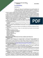 Reglamento de La Ley de Privatización de Los Mercados Públicos