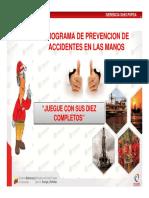 Programa de Prevencion de Accidentes de Manos