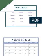 Calendário Acadêmico de 2011-2012 (Seg-dom)1