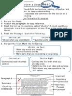 close reading procedure