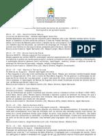 Cronograma de Apresentação dos TCCs - 2010.1 - Jornalismo - UFSC