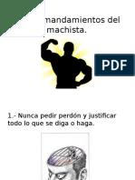 Los 10 Mandamientos Del Machista