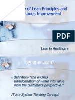 Overview of Lean Principles and Continuous Improvement