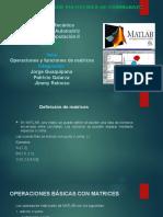 Operaciones y Funciones de Matrices