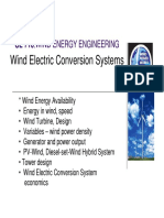 Wind to Electricity Conversion System