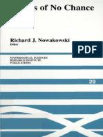 Richard J. Nowakowski Games of No Chance